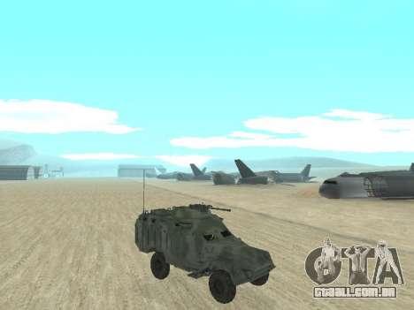 A APC 40 para GTA San Andreas traseira esquerda vista