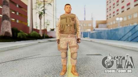 [GTA5] BlackOps1 Army Skin para GTA San Andreas segunda tela