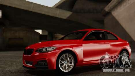 BMW M235i F22 Sport 2014 para GTA San Andreas vista interior