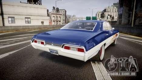 Chevrolet Impala 1967 Custom livery 3 para GTA 4 traseira esquerda vista