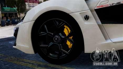 Lykan Hypersport 2015 EPM para GTA 4 vista direita