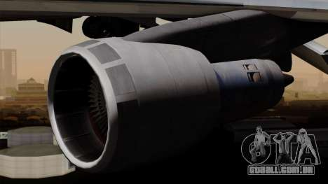 Boeing 747 PanAm para GTA San Andreas vista direita