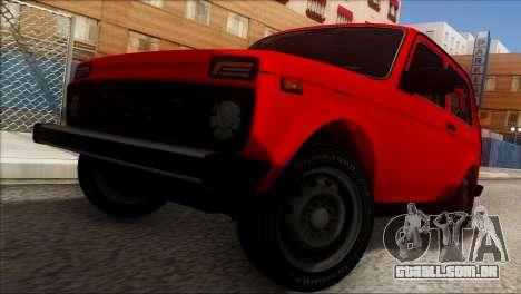 VAZ 2121 Niva BUFG Edição para GTA San Andreas vista superior