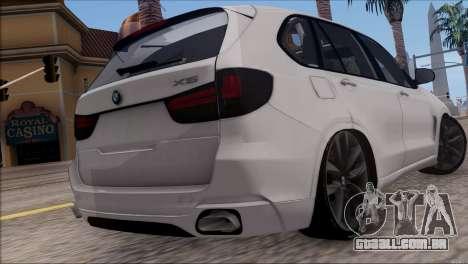 BMW X5 F15 BUFG Edition para GTA San Andreas traseira esquerda vista