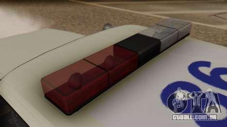 GTA 5 Albany Esperanto Police Roadcruiser para GTA San Andreas vista traseira