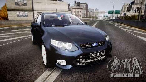 Ford Falcon FG XR6 Unmarked Police [ELS] v2.0 para GTA 4