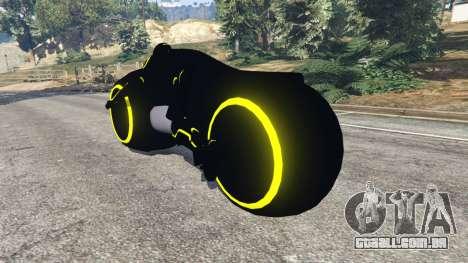GTA 5 Tron Bike yellow traseira vista lateral esquerda