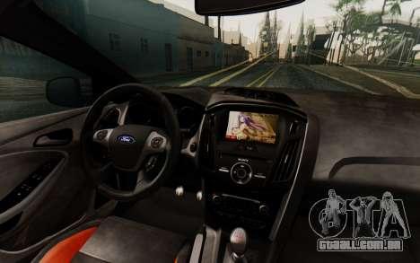 Ford Focus ST 2012 para GTA San Andreas vista interior