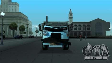 TDK Volvo Xpeditor Garbage Crash Version para GTA San Andreas vista superior