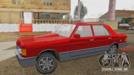 GS Wolhabend para GTA San Andreas traseira esquerda vista