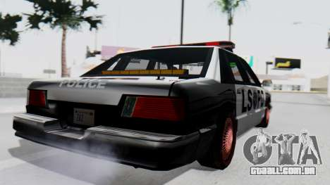 Police LS with Lightbars para GTA San Andreas esquerda vista
