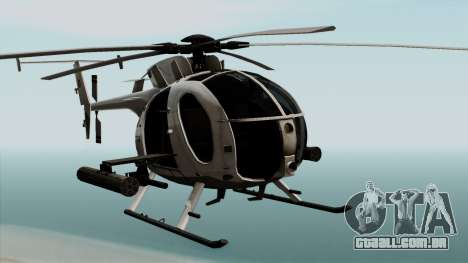 AH-6J Little Bird para GTA San Andreas vista traseira