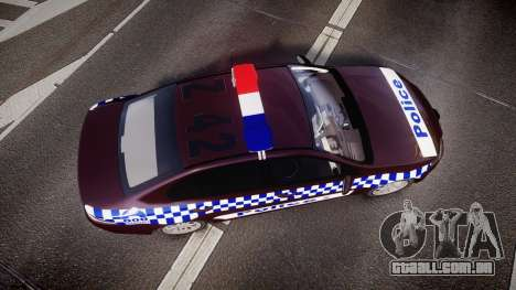 Ford Falcon FG XR6 Turbo NSW Police [ELS] v3.0 para GTA 4 vista direita