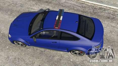 GTA 5 Mercedes-Benz C63 AMG 2012 LCPD voltar vista