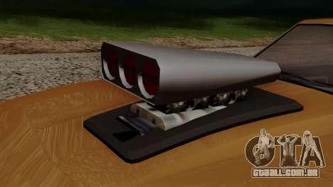 GTA 5 Declasse Vigero para GTA San Andreas vista interior