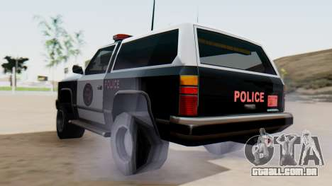 Police Ranger with Lightbars para GTA San Andreas esquerda vista