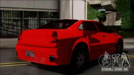 Chrysler 300C SA Style para GTA San Andreas esquerda vista