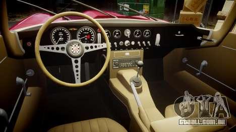 Jaguar E-type 1961 para GTA 4 vista interior