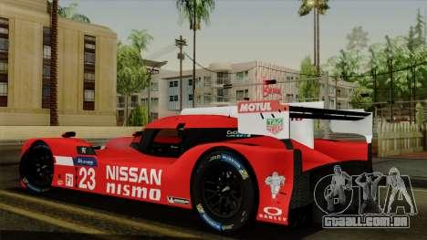 Nissan GTR LM LMP1 2015 para GTA San Andreas esquerda vista