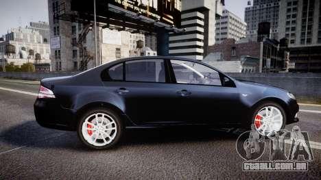 Ford Falcon FG XR6 Unmarked Police [ELS] v2.0 para GTA 4 esquerda vista
