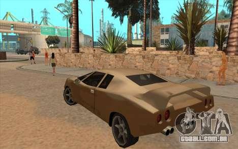 GTA VC Infernus SA Style para GTA San Andreas vista interior