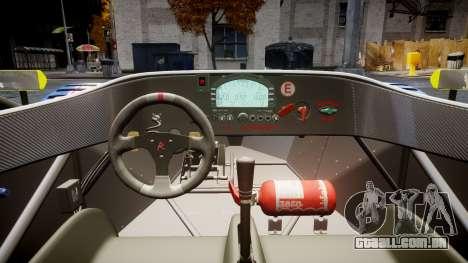 Radical SR8 RX 2011 [829] para GTA 4 vista de volta
