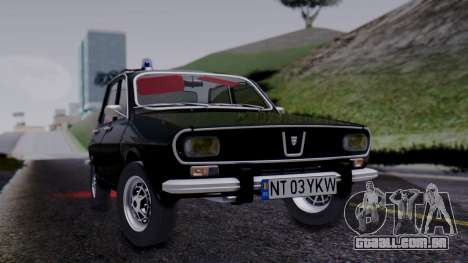 Dacia 1301 Securitate para GTA San Andreas traseira esquerda vista