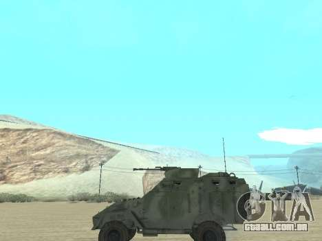 A APC 40 para GTA San Andreas vista interior