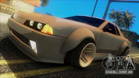Elegy Rocket Bunny Edition para GTA San Andreas traseira esquerda vista