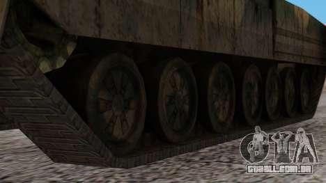T-95 from Arctic Combat para GTA San Andreas traseira esquerda vista