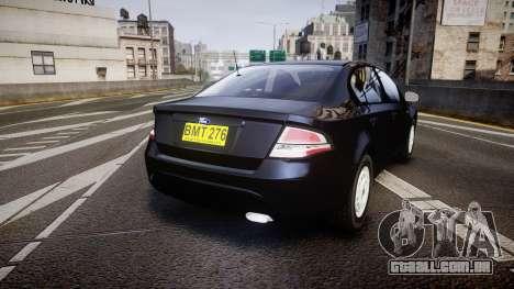 Ford Falcon FG XR6 Unmarked NSW Police [ELS] para GTA 4 traseira esquerda vista