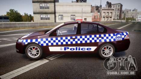 Ford Falcon FG XR6 Turbo NSW Police [ELS] v3.0 para GTA 4 esquerda vista