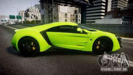 Lykan HyperSport 2014 [EPM] para GTA 4 esquerda vista
