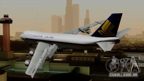 Boeing 747 Singapore (Old) para GTA San Andreas esquerda vista