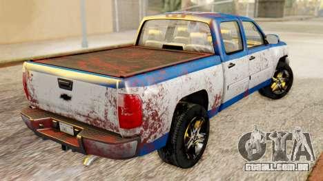 Chevrolet Silverado 2010 TLoU Edition para GTA San Andreas traseira esquerda vista
