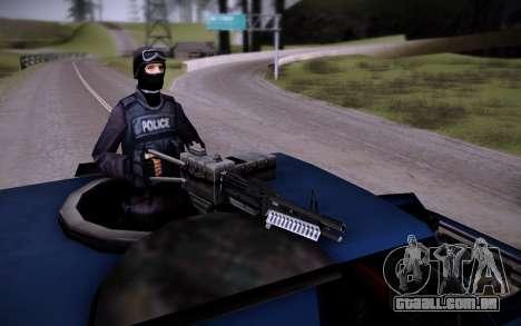 O Carro Blindado. para GTA San Andreas vista interior