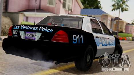 Police LV 2013 para GTA San Andreas esquerda vista