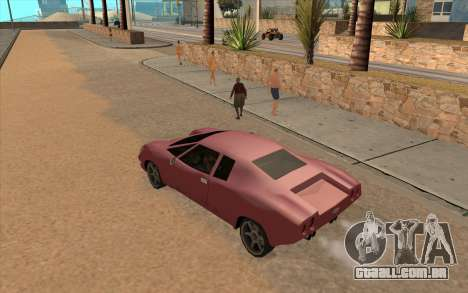 GTA VC Infernus SA Style para GTA San Andreas traseira esquerda vista