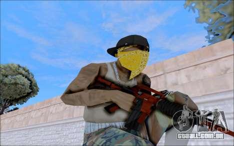 M4A1 Crimzone para GTA San Andreas por diante tela