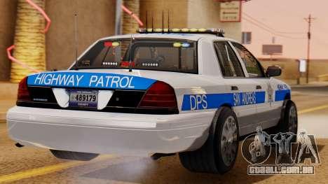 Police Ranger 2013 para GTA San Andreas esquerda vista