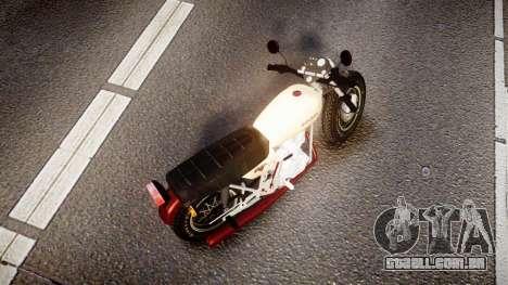 Honda CB-100 para GTA 4 traseira esquerda vista