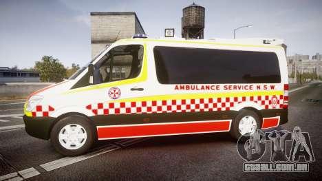 Mercedes-Benz Sprinter NSW Ambulance [ELS] para GTA 4 esquerda vista