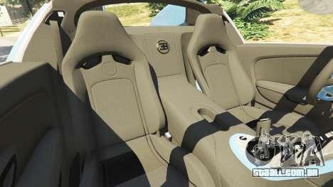 GTA 5 Bugatti Veyron Grand Sport v2.0 vista lateral direita
