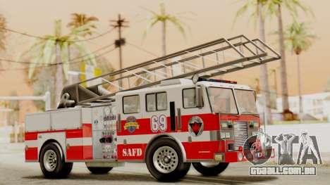 SAFD Fire Lader Truck Flat Shadow para GTA San Andreas