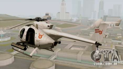 AH-6J Little Bird para GTA San Andreas esquerda vista