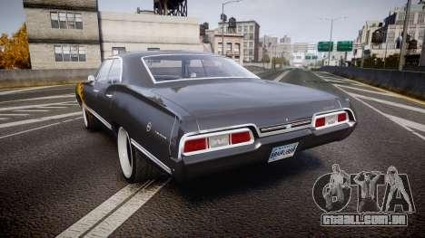 Chevrolet Impala 1967 Custom livery 2 para GTA 4 traseira esquerda vista