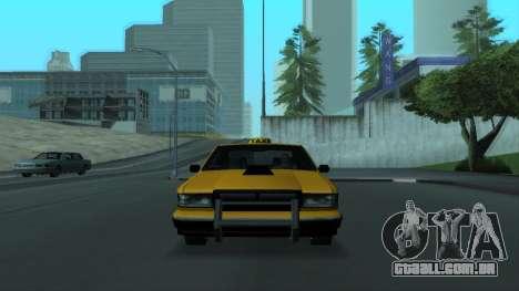New Taxi para GTA San Andreas vista inferior