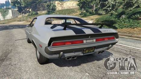 GTA 5 Dodge Challenger RT 440 1970 v0.8 [Beta] traseira vista lateral esquerda