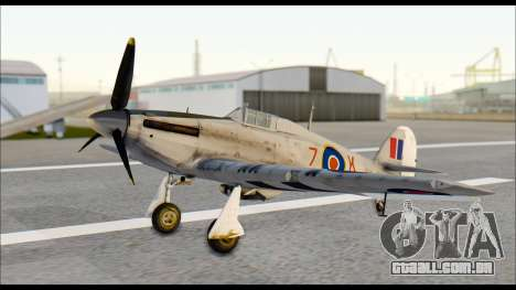Hawker Hurricane MK IA para GTA San Andreas vista direita