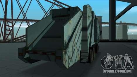 TDK Volvo Xpeditor Garbage Crash Version para GTA San Andreas vista direita